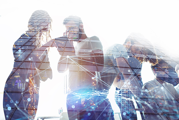 Marketers collaborating with small business